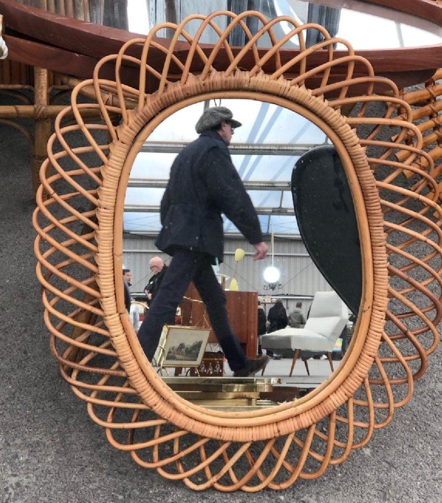 And I just love the image of this mirror with the purposeful man in its reflection!