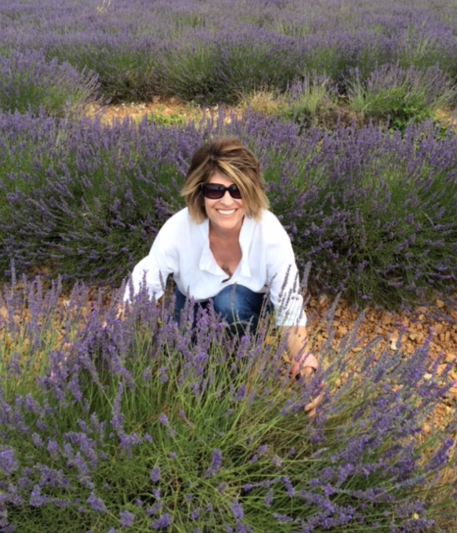 Linda in the lavender.