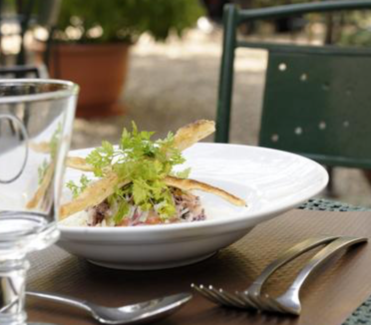 We always cross our fingers that the weather will be nice enough to eat outside at the gorgeous Jardin du Quai.