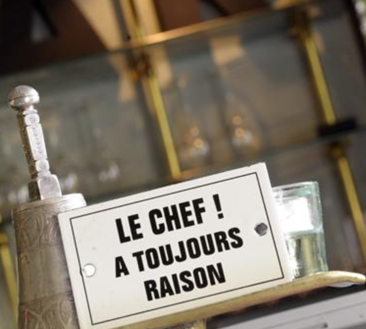 "Mais oui: the chef is always right! (<a href=""http://www.jardin-du-quai.com/en/the-restaurant"" target=""_blank"">Jardin du Quai</a>)"