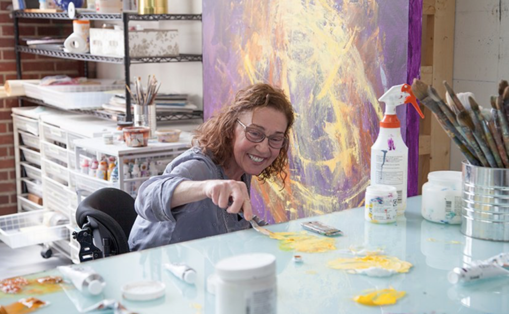 Gail in her studio.