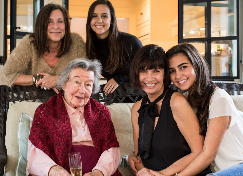 Eileen with her daughters and granddaughters.