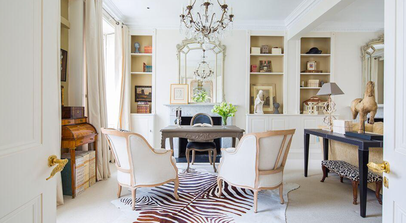 A little zebra zing makes this space sing.