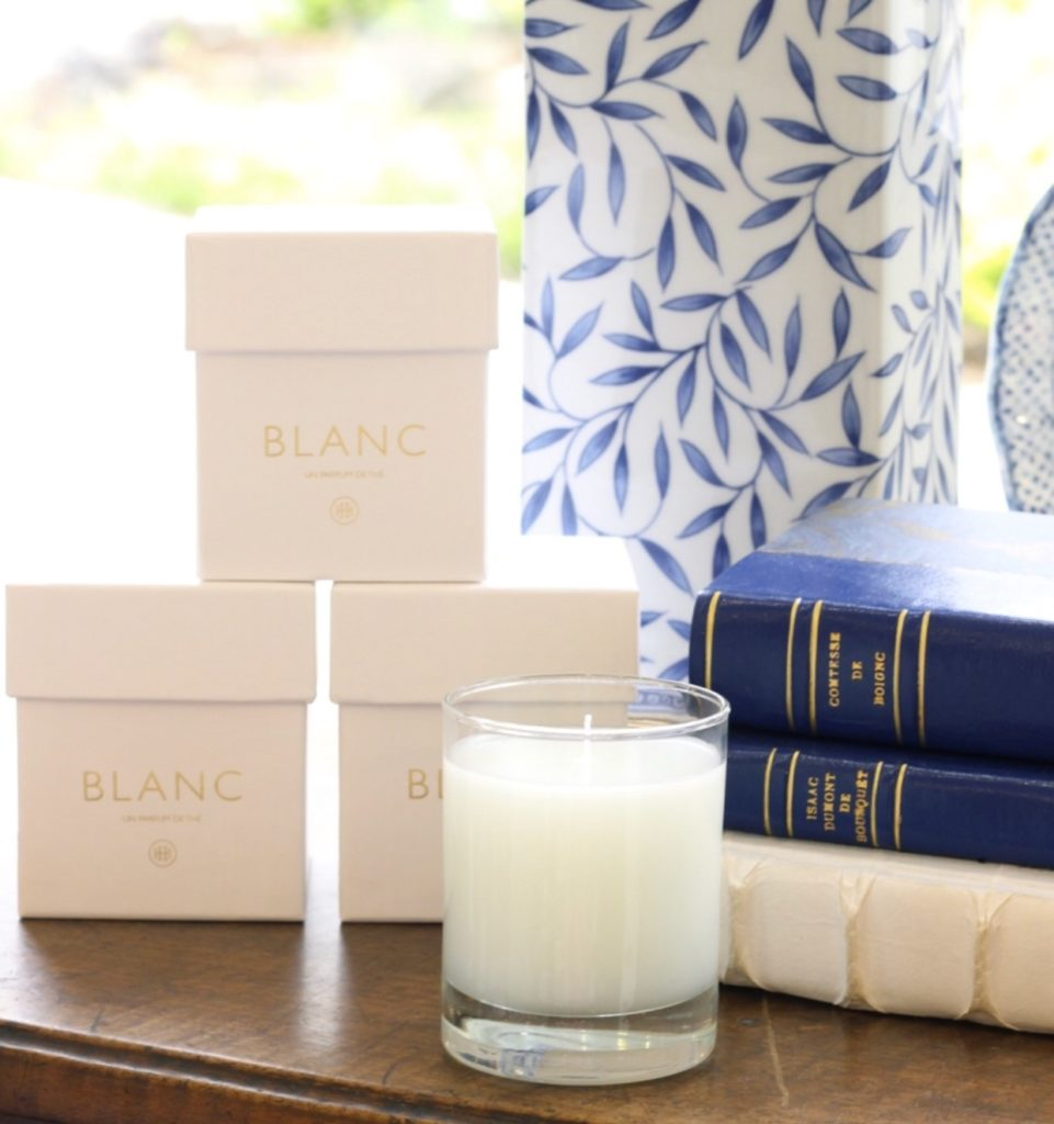 "Everyone loves our <a href=""https://blog.huffharrington.com/wp-content/uploads/2018/07/The-blanc-on-table.jpg"" target=""_blank"">tea scented candles from Paris</a>. They can be wrapped beautifully or just ask for a ribbon around the box. It's makes a handsome gift, as is!"
