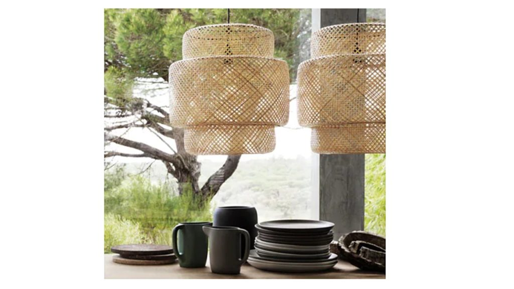 It's all about the mix, and yes, we adore these bamboo pendant lamps from Ikea!