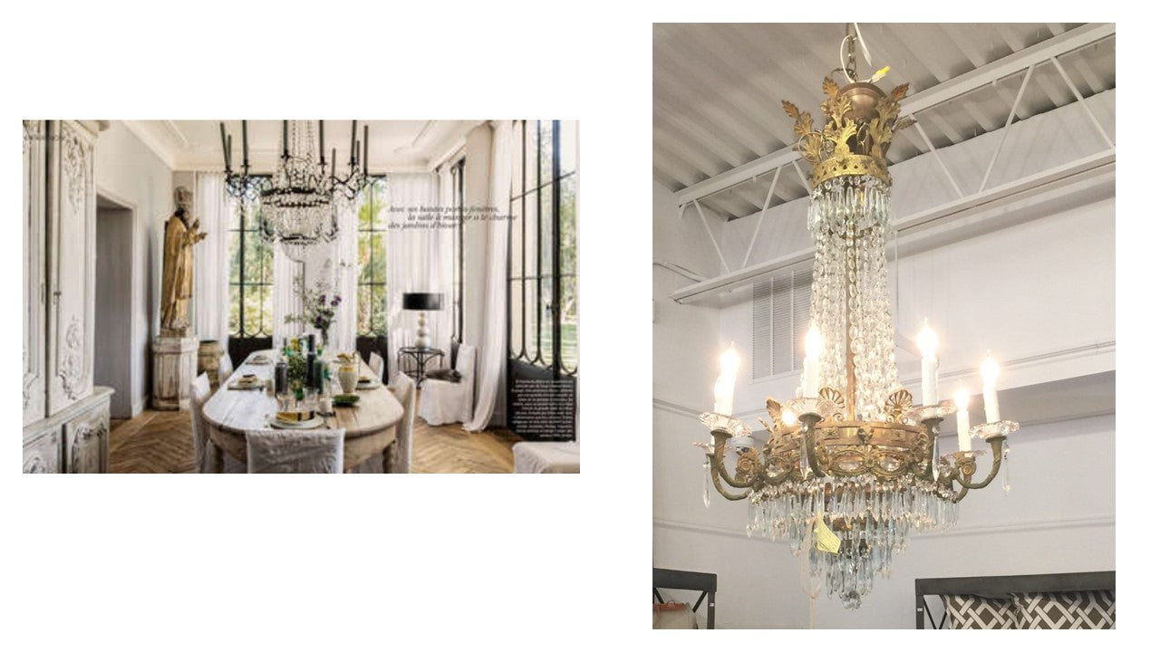 Looking for an elegant Regency style chandelier with tall and elegant candles? We've got a beauty.