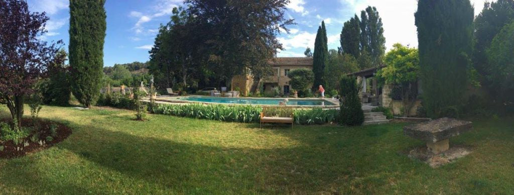 The two hundred year old farmhouse that Alice and Don have restored in Provence.