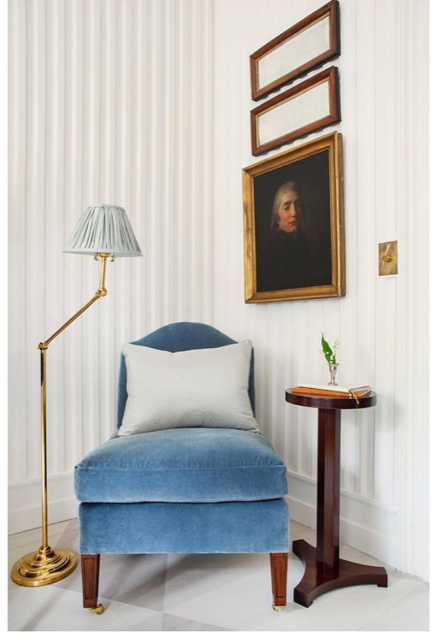 Every room needs a quiet corner with a little old and a little new. Patrick Cline Photography