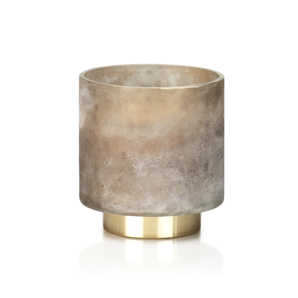 Taupe Tobacco Flower Candle