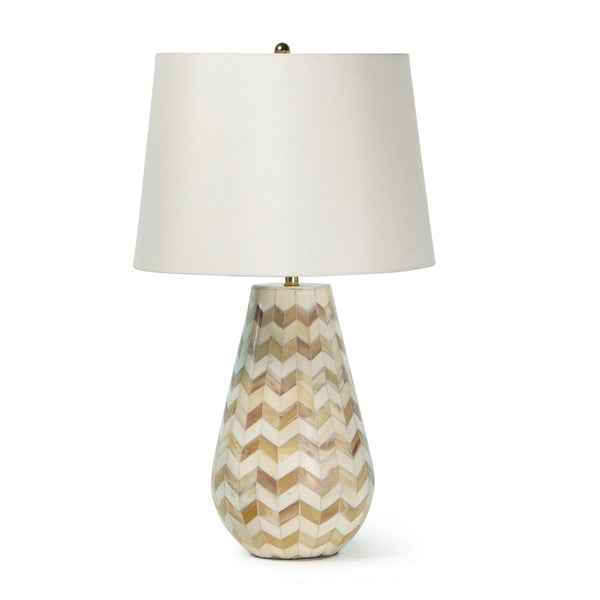 Natural Chevron Table Lamp