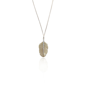 S. Carter Designs 14k Dainty Feather Necklace