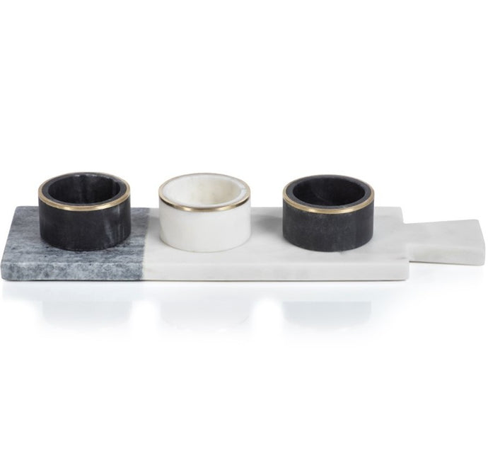 Two-Tone Condiment Set