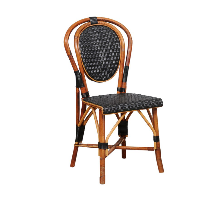 Vintage Black Cane Bistro Chair