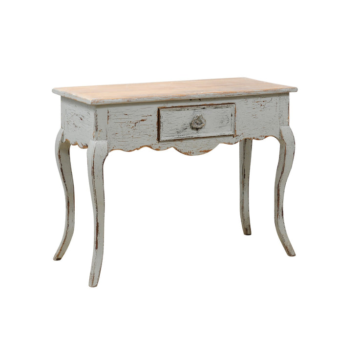 Blue Painted Pine Consoles