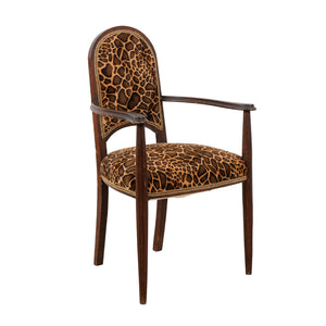 Animal Print Velvet Arm Chair