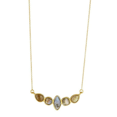 Elyssa Bass Designs Five Stone Labradorite Necklace