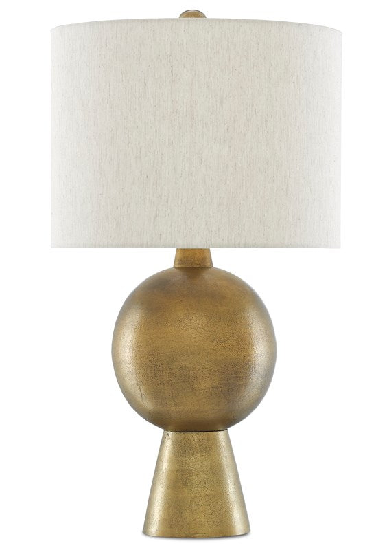 Brass Rounded Table Lamp