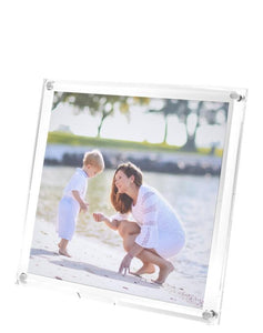 Clear Beveled Frame, 8 x 8