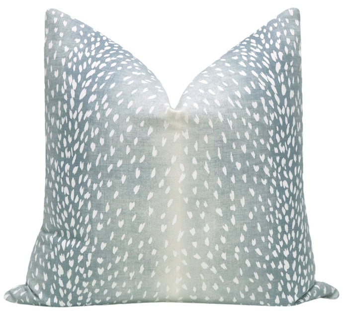 Spa Blue Linen Antelope Pillow