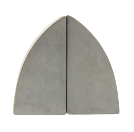 Geometric Cement Arch Bookends