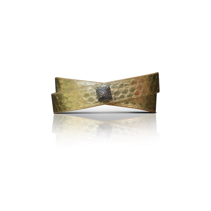 S. Carter Designs Gold Python Double-Wrap Bracelet