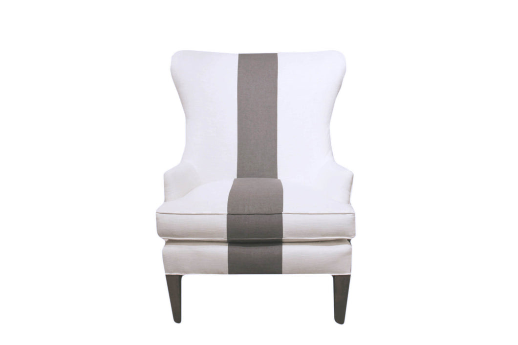 Black Stripe Linen Chair