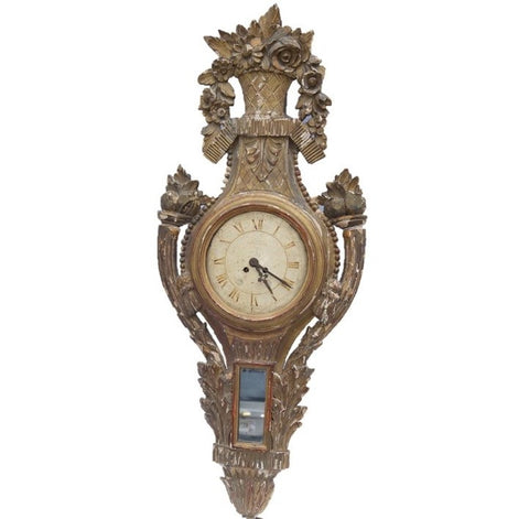 French Barometer Clock