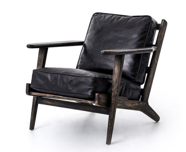 Ebony Leather Chair
