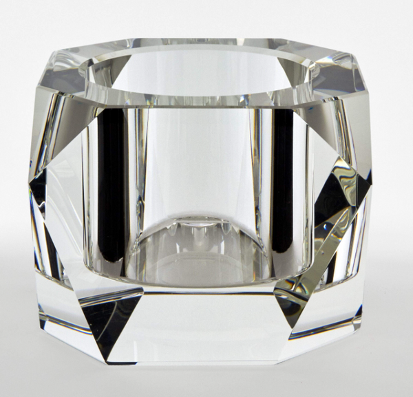Diamond Cylinder Glass Bowl