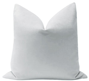 Dove Grey Velvet Pillow