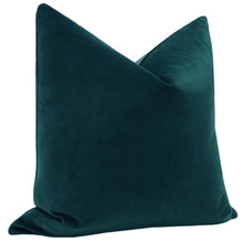 Load image into Gallery viewer, Peacock velvet pillow