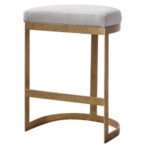 Plush Iron Counter Stool