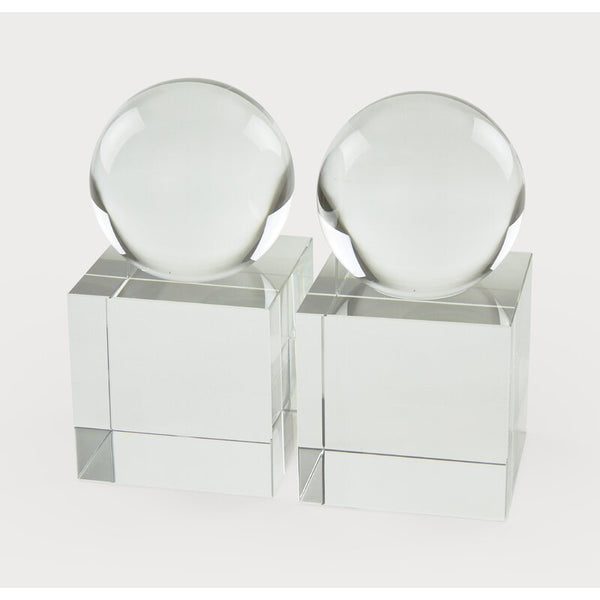 Crystal Orb Bookends