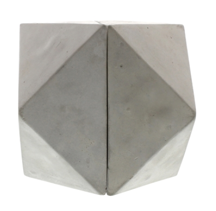 Geometric Cement Cube Bookends