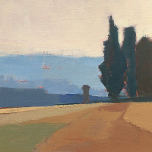 Lesley Powell - Cypress, Hazy Morning