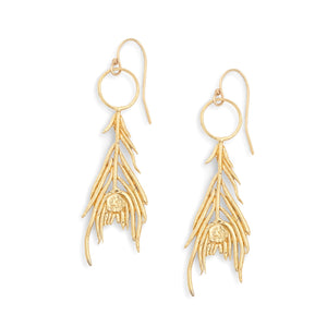 Louisa Guild Jewelry Peacock Feather Earrings