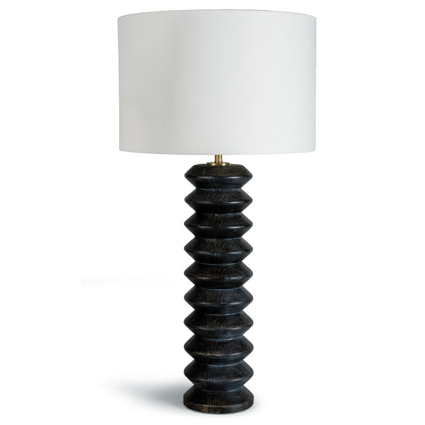 Black Accordion Table Lamp