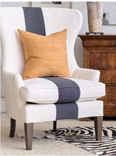 Load image into Gallery viewer, Black Stripe Linen Chair