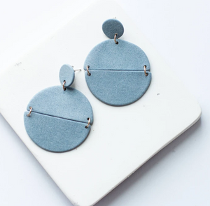 Susan Gordon Pottery Blue Genesis Earrings