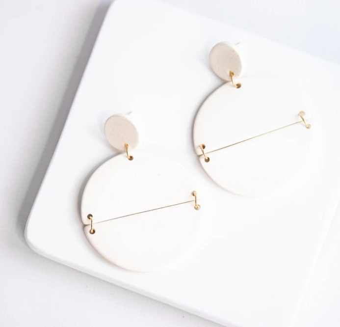 Susan Gordon Pottery Cream Genesis Earrings