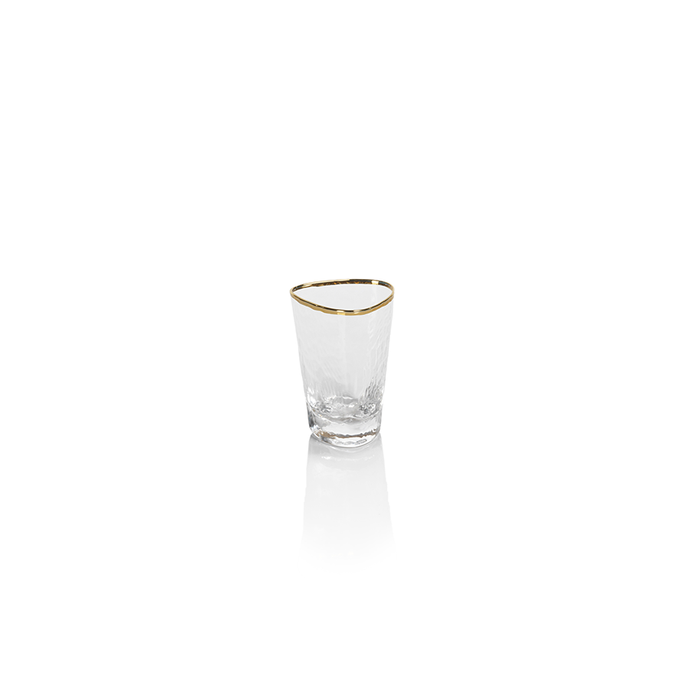 Gold Rim Shot Glass