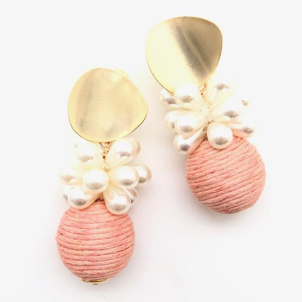 Shiver and Duke Blossom Earrings in Blush