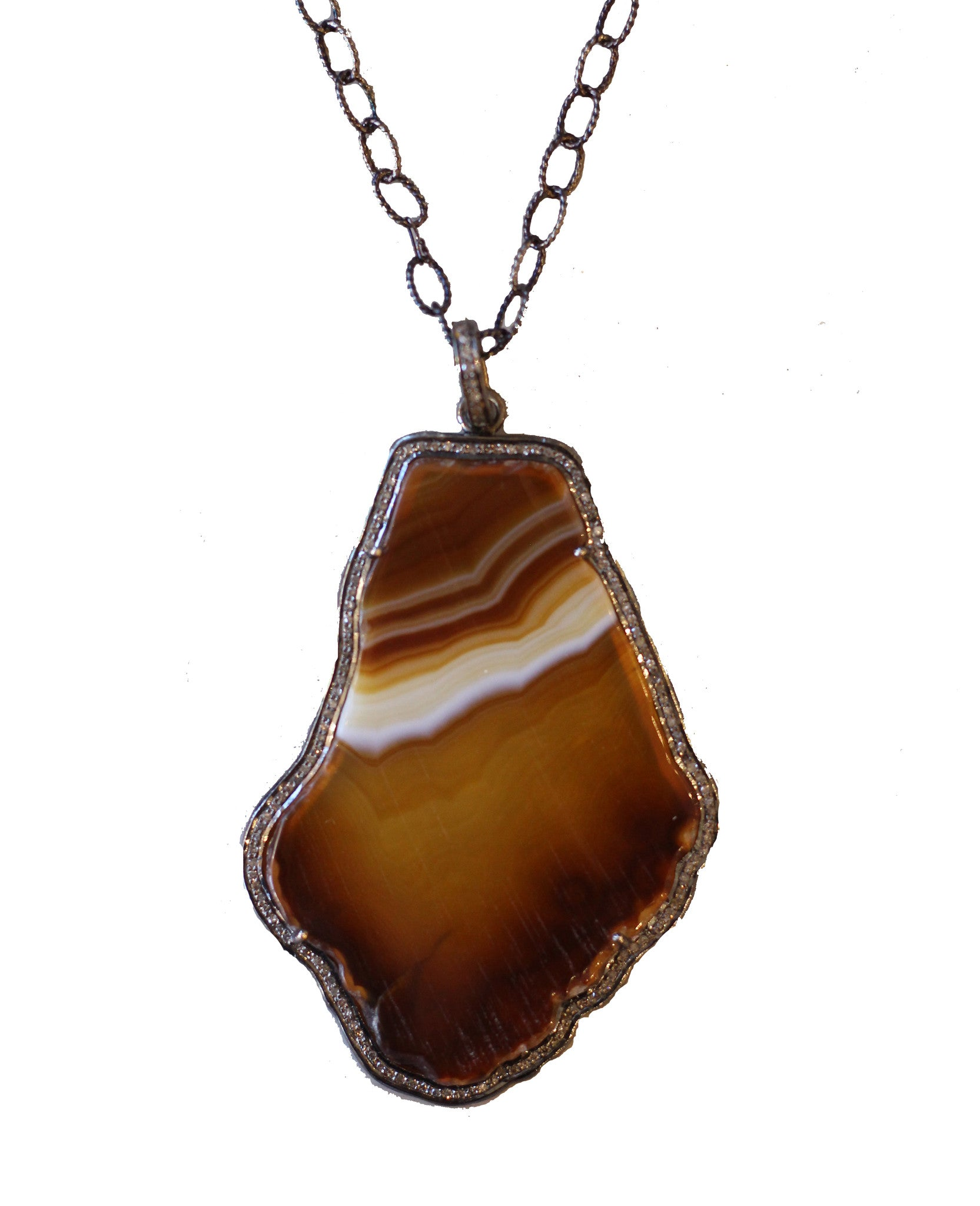 Kz noel agate pendant necklace huff harrington kz noel agate pendant necklace aloadofball Choice Image