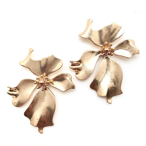 Shiver and Duke Dogwood Studs in Gold