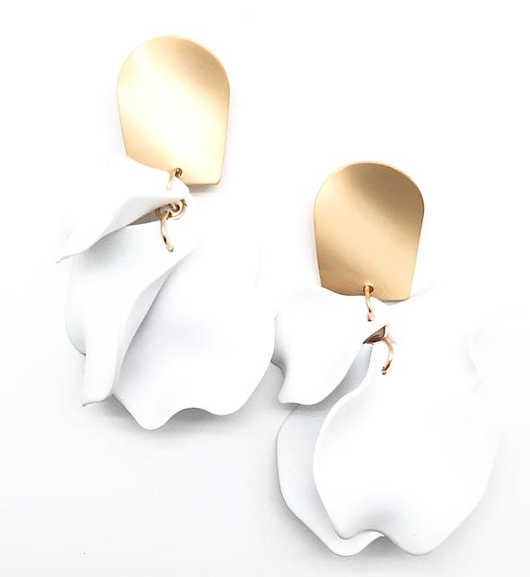 Shiver and Duke Remy Earrings in White