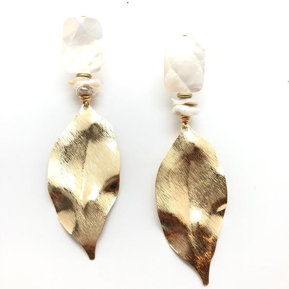 Shiver and Duke Ash Leaf Earrings