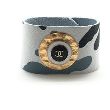 Load image into Gallery viewer, Shiver and Duke Designer Leather Cuff in Camo