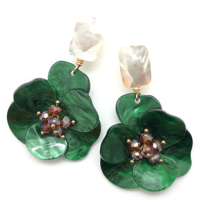 Shiver and Duke Molly Earrings in Green