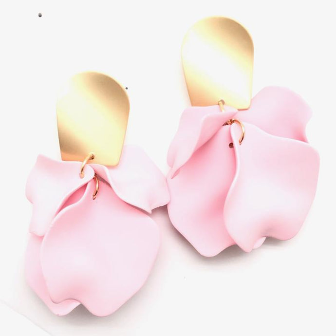 Shiver and Duke Remy Earrings in Pink