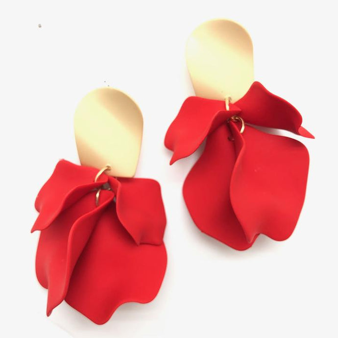 Shiver and Duke Remy Earrings in Red